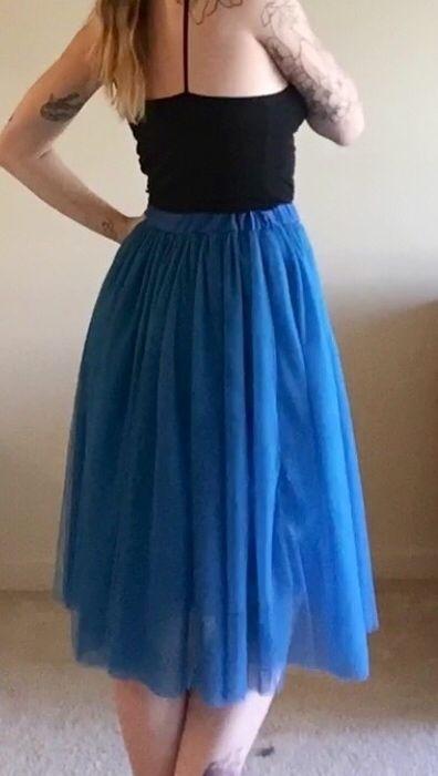 Item: Knee Length Tulle Skirt