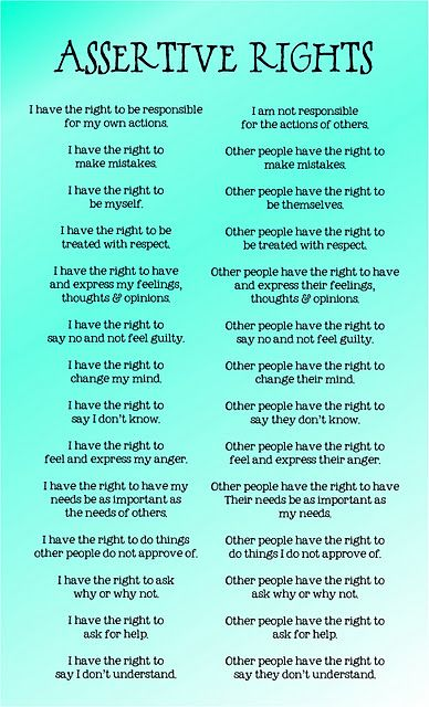 Assertive Rights - Adults need this too.