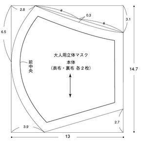 百合子マスク 型紙
