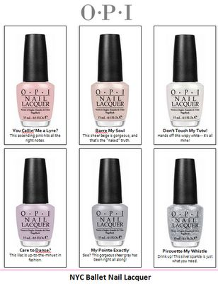OPI New York City Ballet collection. MUST HAVE <3