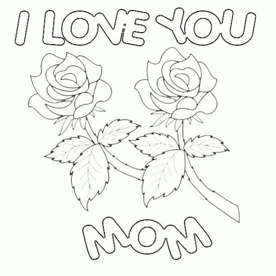 Happy Valentines Day Mom Coloring PageHappy Valentines Day Mom
