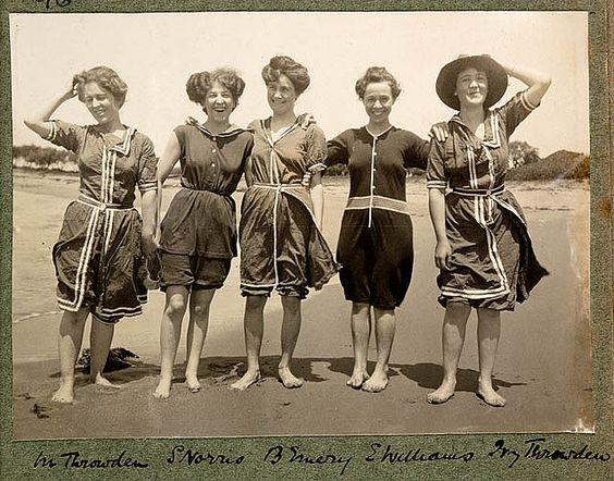 Vintage Bathing Suits | Bathing-Suit-Women-in-bathing-suits-on-Collaroy-Beach-1908 ...