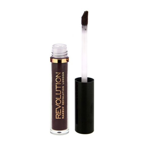Pin for Later: Get Your Halloween Face On in 5 Minutes Makeup Revolution Salvation Lip Lacquer Black Heart  Makeup Revolution Salvation Lip Lacquer Black Heart (£3)