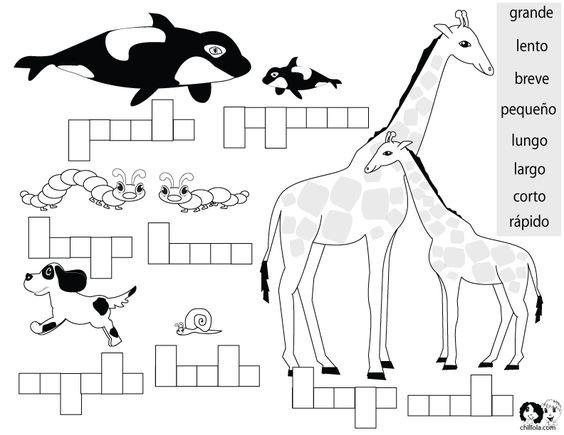 Opposites Spanish for Kids Worksheet | Spanish Worksheets for ...