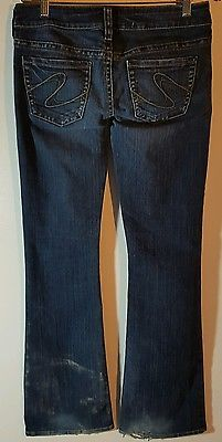 Details about Silver Jeans Tuesday cut Size W 28 L 30 distressed jeans