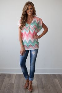 Love the style of the top, but do not like the pattern/print. Though I like chevron, the color combo with the chevron is starting to resemble southwest motif I despise
