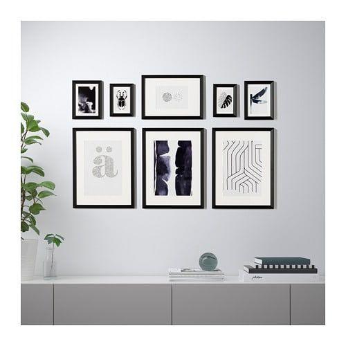 Knoppang Ramme Med Plakat Sett Med 8 Stk Ikea Interior Mobler Og Interior Ikea