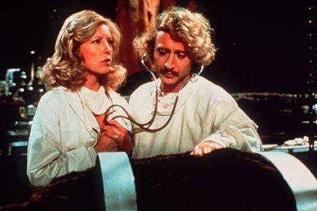 Teri Garr and Gene Wilder in Young Frankenstein in 1974