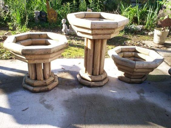 Landscape timbers Planters and Landscapes on Pinterest