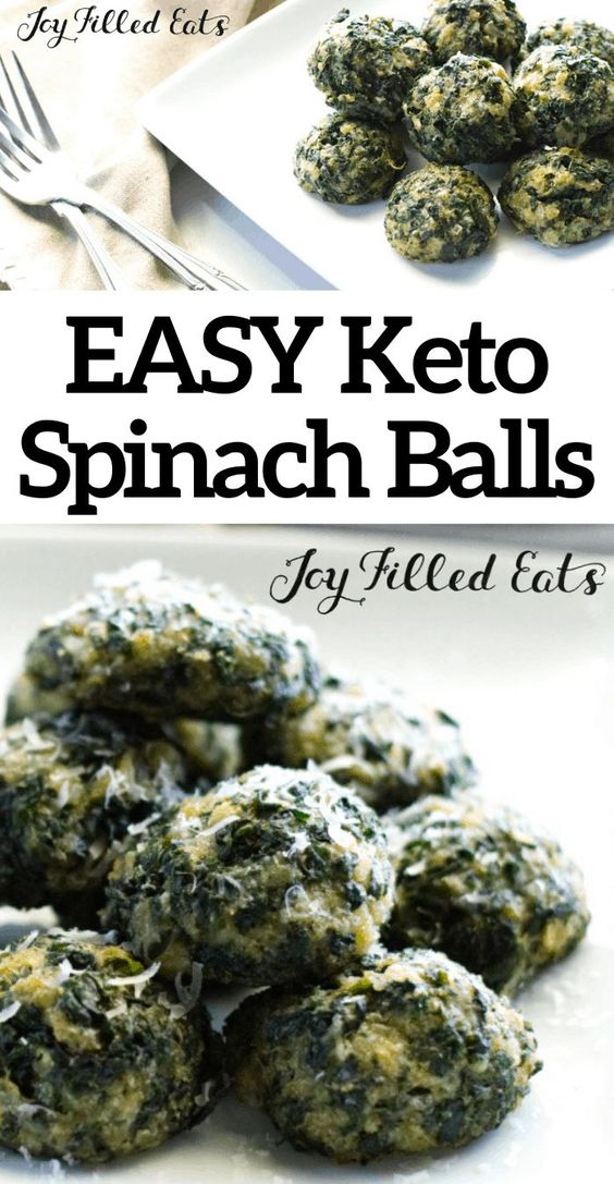 Keto Spinach Balls Recipe