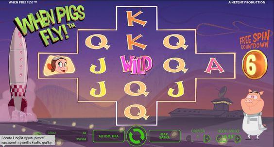 Prasátka přinášejí štěstí ve hře!  http://www.hraci-automaty.com/hry/when-pigs-fly-hraci-automaty  #whenpigsfly #hraciautomaty #vyhra