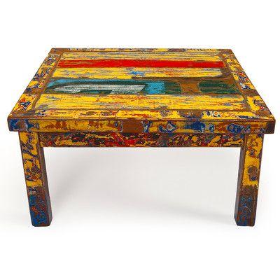 EcoChic Lifestyles Hunky Dory Reclaimed Wood Coffee Table   Wayfair