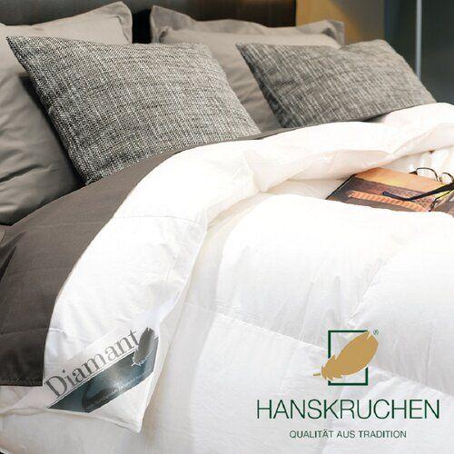 Hanskruchen 100 Daunen Bettdecke Diamant Extra Leicht Bed