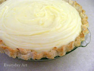 Sour Cream Lemon Pie. Looks tasty