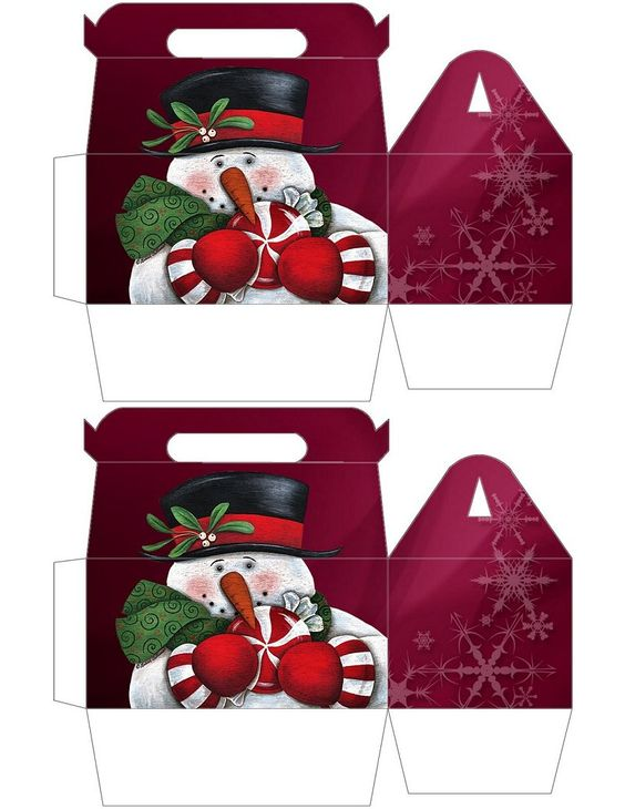 Gable boxes peppermint and snowman on pinterest
