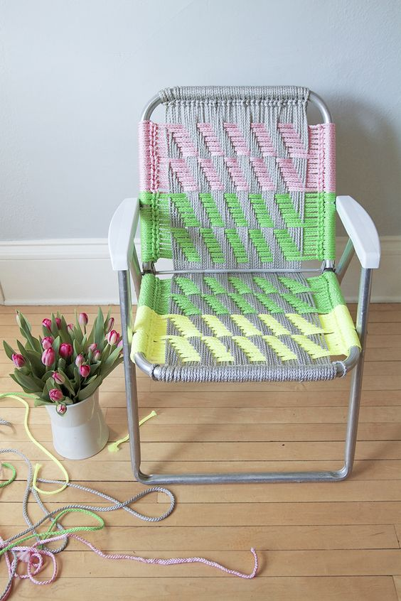 Woven Macram Chair Tutorial Diy Things Pinterest