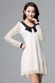 Resultado de imagen para vestidos coreanos casuales de invierno