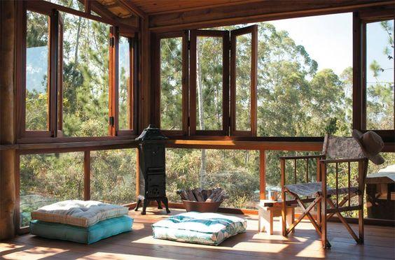 Lugar ideal para relaxar... via: Revista Arquitetura & Construção