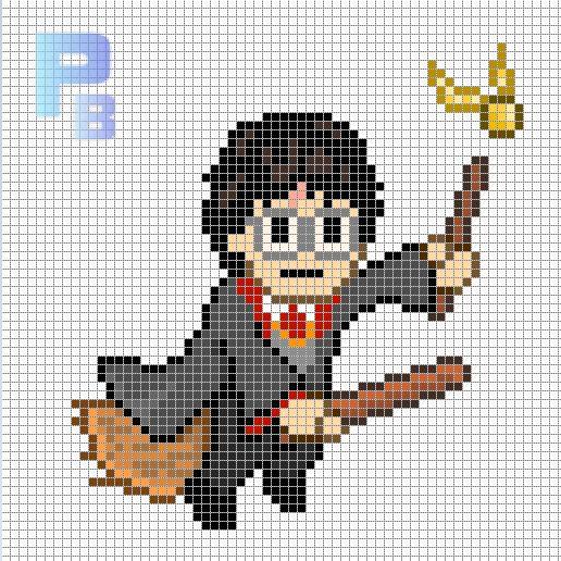 Harry Potter Perler Pattern Patrones Beads Plantillas Para Hama Croche De Harry Potter Punto De Cruz Bebe Sabanas Patrones De Perler