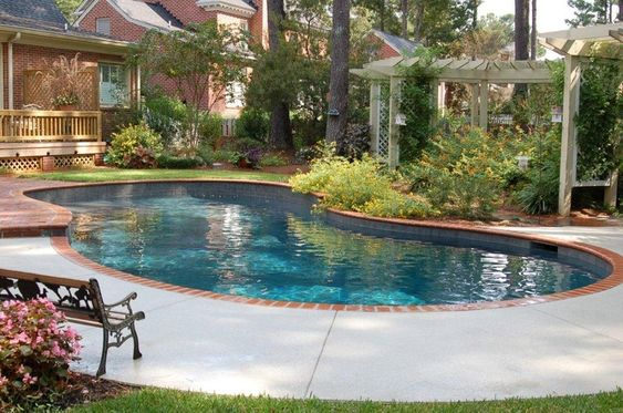 Kidney shaped swimming pool designs for backyard pool for Kidney shaped pool designs