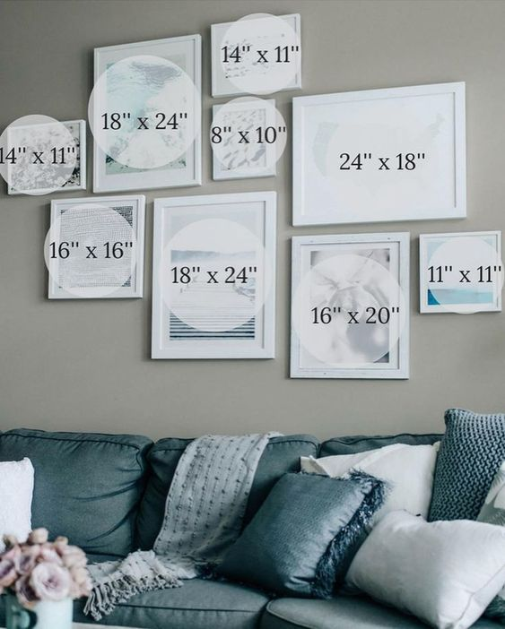 Gallery Wall Sizes For Reference Regram Via Pretty In The Pines A Lifestyle F Gallery Wall Living Room Gallery Wall Layout Living Room Gallery Wall Sizes