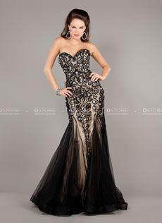 Vestido longo sereia tomara que caia em renda Clarisse 5913 : Dstore Miami, Vestidos de Festa Importados