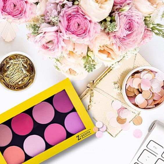 Yellow Friday over at zpalette.com 40% off this bad boy for one day only (fyi those are some of my fave @makeupgeekcosmetics blushes in there)  #zpalette #sale #tgif #yellow #makeupstorage #beautytools #getonit #makeupgeek #blush #deskinspo #decor