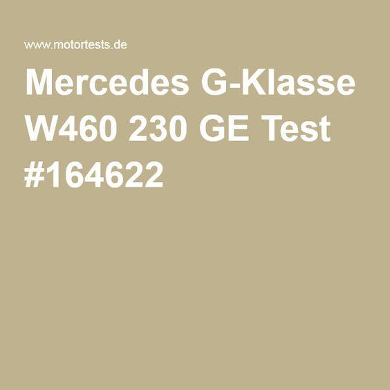 Mercedes G-Klasse W460 230 GE Test #164622