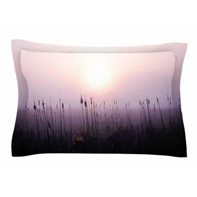 East Urban Home Sunrise Cattails by Angie Turner Pillow Sham Size: