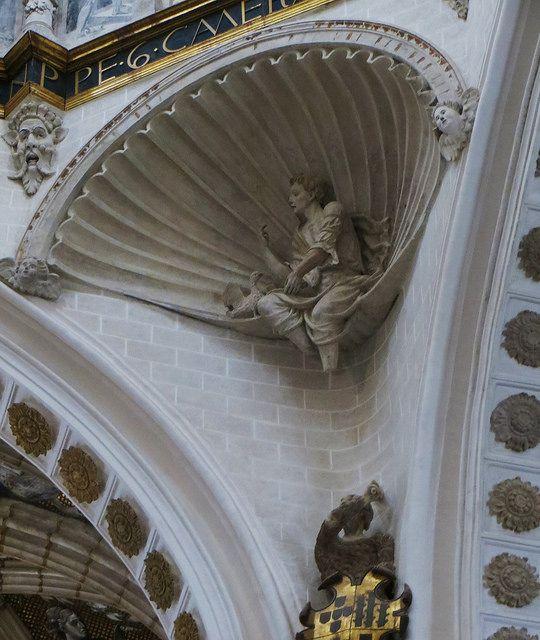 Décor Renaissance, cathédrale de Nuestra Señora de la Huerta, style gothico-mudejar, Tarazona, province de Saragosse, Aragon, Espagne. #Renaissance #Tarazona #Aragon #Spain