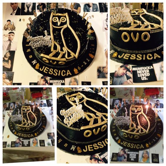 my 29th bday #drake #ovo #cake ❤️❤️