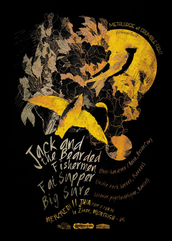 Graphisme Affiche concert Crumble Fight | JulienG Webdesigner graphiste Création de sites