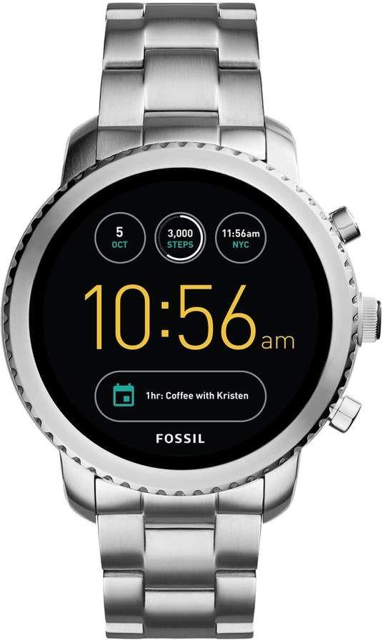 Fossil Q Explorist Gen 3 Stainless Steel Smart Watch Ftw4000 Fossil Smart Watch Black Stainless Steel Bracelet Fossil Watch
