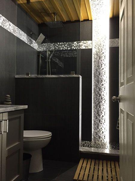 LED Bathroom Lighting using 12VDC Warm White LED Strip Light with Waterproof Coating