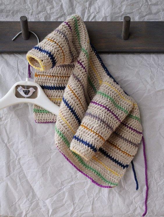 cute crochet baby cardi: