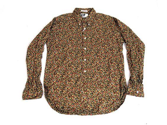 EG - flannel floral (brown)