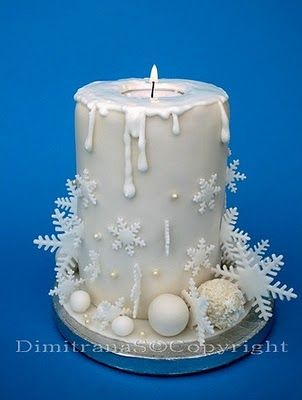 Christmas candle cake - this is an amazing idea - birthday cakes could be done in a similar way.