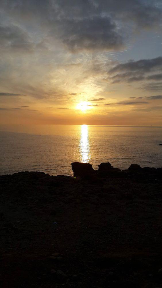 Clouded sunset in Xghajra, Marsaskala