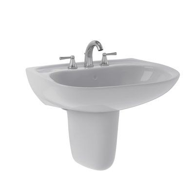 Toto Prominence Vitreous China 26 Wall Mount Bathroom Sink With Overflow Wall Mounted Bathroom Sinks Sink Bathroom Sink