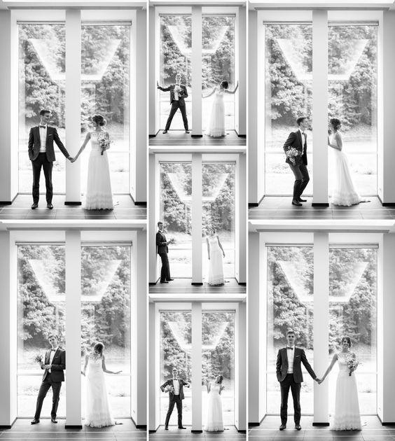Grappige trouwfoto's binnen in SMAK Gent