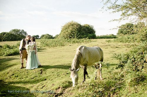 Mental note: next time we're in garb we have to find a field with a random horse...