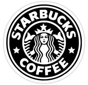 Black And White Starbucks Logo Sticker By Jsmoll In 2020 With Images Starbucks Drawing Starbucks Logo Starbucks