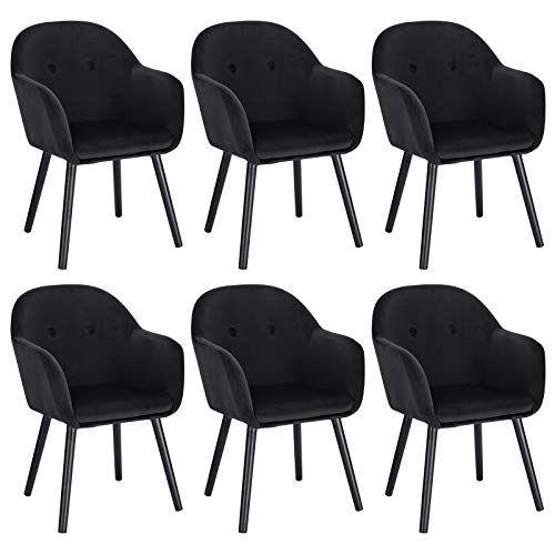 woltu chaises de salle a manger noir
