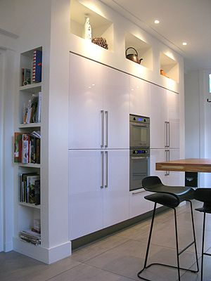 Boks architectuur keukenkast eigen werk pinterest architects and met - Keukenkast outs ...