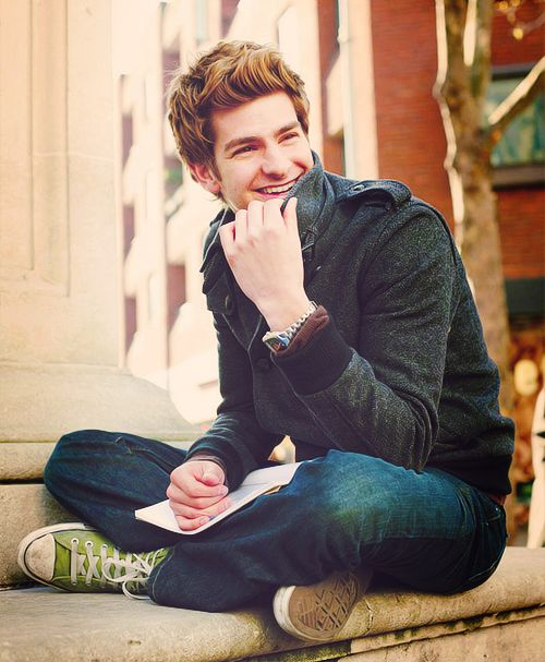 Andrew Garfield. Could you be any cuter!?!?...that smile!