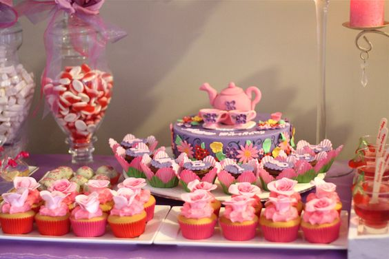 Purple & Pink Tea Party for Kaneisha | CatchMyParty.com