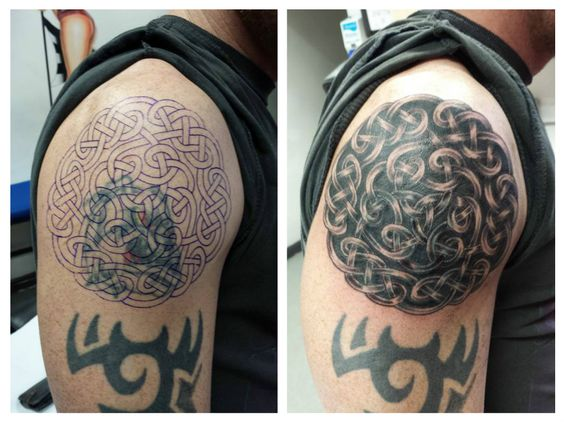 Celtic cover-up #celtic #coverup #blacktattoo