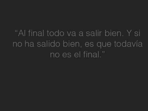 Al final...