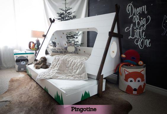 Coup de coeur DIY ! Et petit tuto pour construire soi-même un lit tipi avec la petite astuce pingotine à la fin !