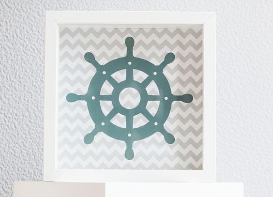 wandgestaltung kinderzimmer wand print wall print maritim   my ... - Kinderzimmer Wand Design